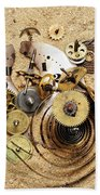Fragmented Clockwork In The Sand Hand Towel