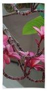 Frangipani Flowers Bath Towel