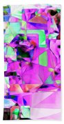 Frankenstein In Abstract Cubism 20170407 Square Bath Towel
