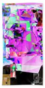 Frankenstein In Abstract Cubism 20170407 Bath Towel