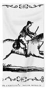 Franklin: Post Rider, 1775 Bath Towel