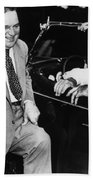 Franklin Roosevelt And Fiorello Laguardia In Hyde Park - 1938 Bath Towel