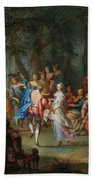Franz Christoph Janneck Graz 1703-1761 Vienna A Dance In The Palace Gardens, Bath Towel