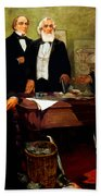 Frederick Douglass Appealing To President Lincoln Bath Towel