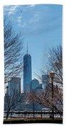 Freedom Tower Framed Bath Towel