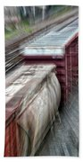 Freight Train Abstract Bath Towel