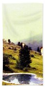 French Alps 1955 Bath Towel