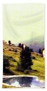 French Alps 1955 Bath Towel