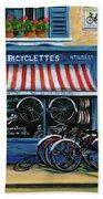 French Bicycle Shop Bath Towel