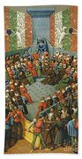 French Court, 1458 Hand Towel