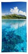 French Polynesia, View Bath Towel