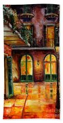 French Quarter Alley Bath Towel