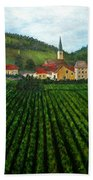 French Village In The Vineyards Bath Towel