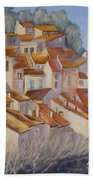 French Villlage Painting Bath Towel