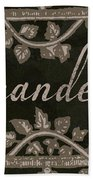 French Vintage Laundry Sign Bath Towel