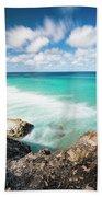 Frenchmans Beach On Stradbroke Island, Queensland. Hand Towel