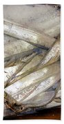 Fresh Fishes In A Market 3 Bath Towel