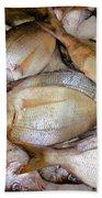 Fresh Fishes In A Market 4 Bath Towel
