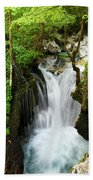 Fresh Green Forest In Spring At Lepenica River Gorge At Sunikov  Bath Towel