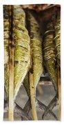 Fresh Grilled Asian Fish In Kep Market Cambodia Bath Towel