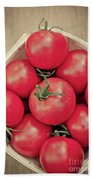 Fresh Ripe Tomatoes Bath Towel