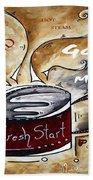 Fresh Start Original Painting Madart Bath Towel