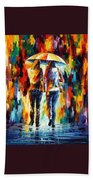 Friends Under The Rain Hand Towel