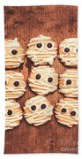 Frightened Mummy Baked Biscuits Bath Towel