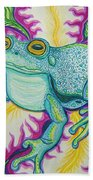 Frog And Flower Bath Towel