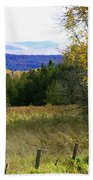 From The Field To The Mountains Bath Towel