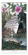 Frontis Of Historia Naturalis Ranarum Nostratium Bath Towel by ArtistAugust Johann Roesel von Rosenhof