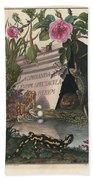 Frontis Of Historia Naturalis Ranarum Nostratium Bath Towel by August Johann Roesel von Rosenhof