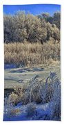 Frost Along The Creek - Panorama Bath Towel