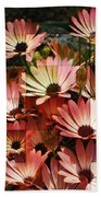Frosted African Daisies Bath Towel