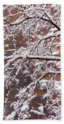 Frosted Branches Bath Towel