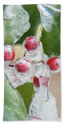 Frosted Holly Bath Towel