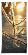Frosty Branches At Sunrise Bath Towel