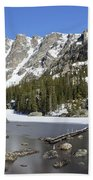 Frozen Colorado Lake Bath Towel