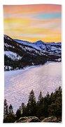 Frozen Reflections At Echo Lake Bath Towel