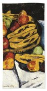 Fruit Still Life By Marsden Hartley Bath Towel