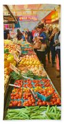 Fruits And Vegetables - Pike Place Market Bath Towel