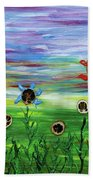 Fruity Flowerfield Bath Towel