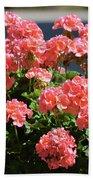 Full Bloom Geraniums  Bath Towel