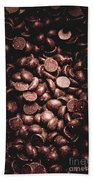 Full Frame Background Of Chocolate Chips Bath Towel