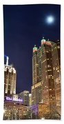 Full Moon Over Chi Town Bath Towel