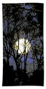 Full Moon Rising Bath Towel