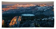 Full Moon Set Over Desolation Wilderness Bath Towel
