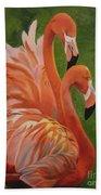 Fun Flamingos Bath Towel
