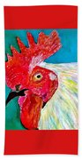 Funky Rooster Bath Towel
