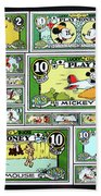 Funny Money Collage Bath Towel